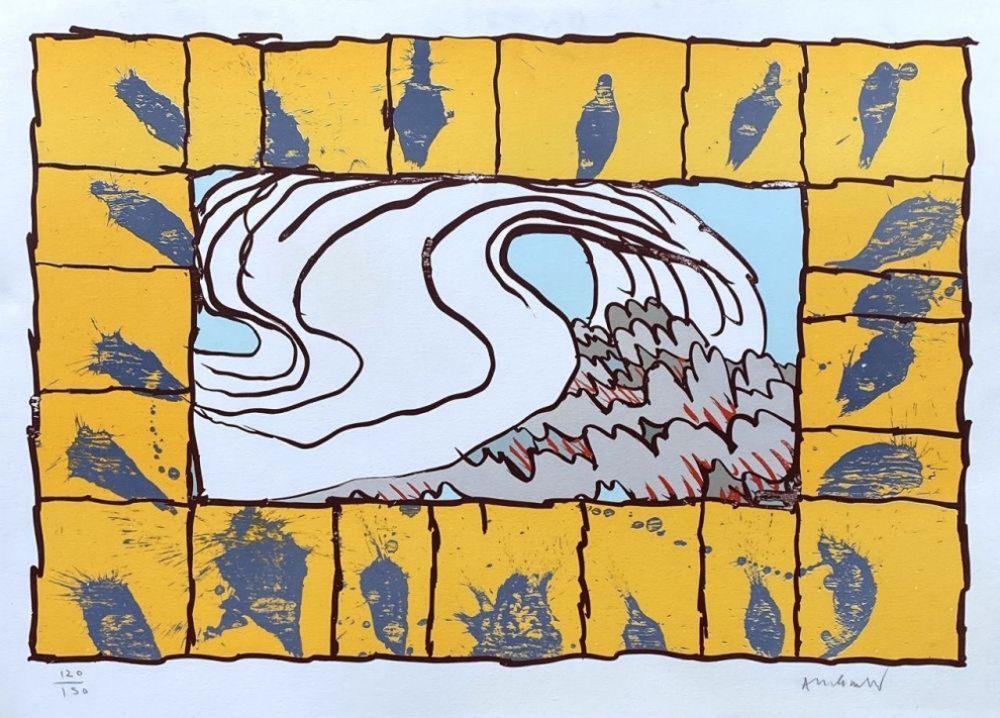 Litografia Alechinsky - '' Maitresse Vague ''