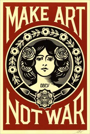 Serigrafia Fairey - Make Art Not War