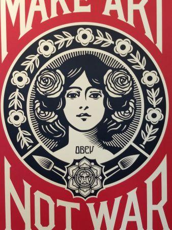 Litografia Fairey - Make Art Not War