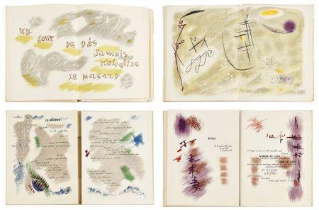 Libro Illustrato Masson - Mallarmé : UN COUP DE DÉS JAMAIS N'ABOLIRA LE HASARD. 28 lithographies originales en couleurs (1961)
