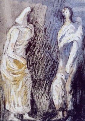 Litografia Moore - Man and Woman