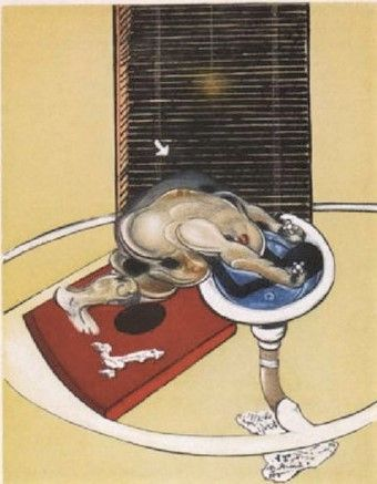 Acquaforte E Acquatinta Bacon - Man At The Washbasin