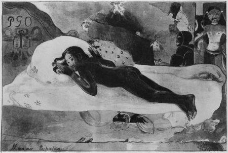 Litografia Gauguin - Manao Tupapau