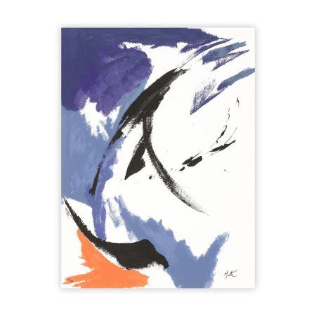 Serigrafia Miotte - Mancha Naranja Inferior Izquierda