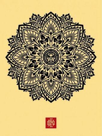 Serigrafia Fairey - Mandala Ornament 1 Cream