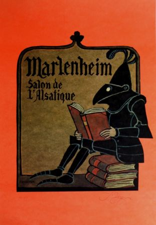 Litografia Ungerer - Manlenheim   Salon de L'Alsatique