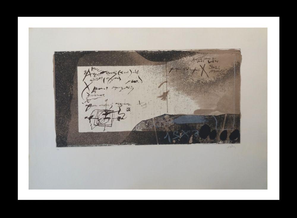 Acquaforte E Acquatinta Tàpies - Manuscrito