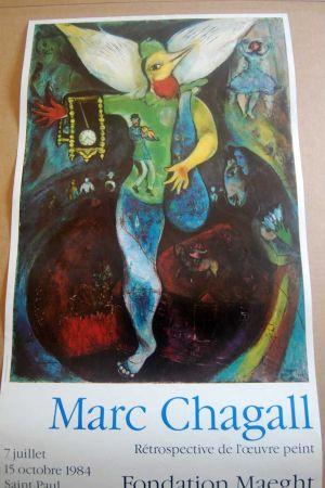 Manifesti Chagall - Marc Chagall - Cartel Exposicion Retrospectiva Fundacion Maeght 1984
