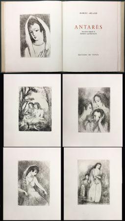 Libro Illustrato Laurencin - Marcel Arland : ANTARES. Exemplaire avec suite (1944).