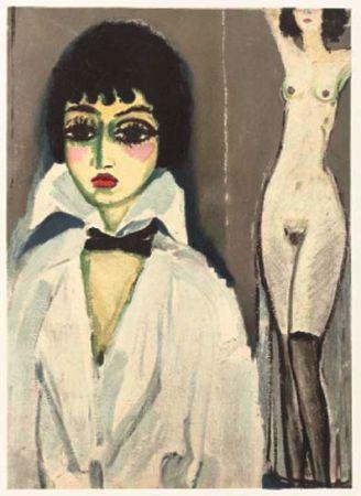 Litografia Van Dongen - Marcele Leoni with nude