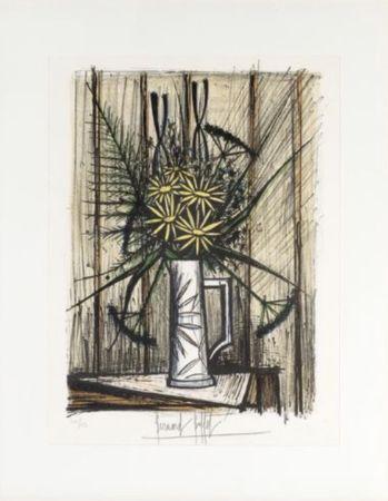 Litografia Buffet - Marguerites et Iris