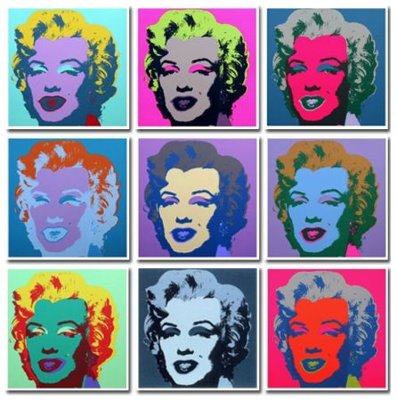 Non Tecnico Warhol (After) - Marilyn Collection a Set of 10 in different colours