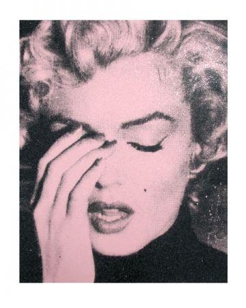 Serigrafia Young - Marilyn Crying, Powder Pink