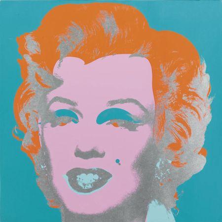 Serigrafia Warhol - Marilyn Monroe (FS II.29) (Blue/Orange)