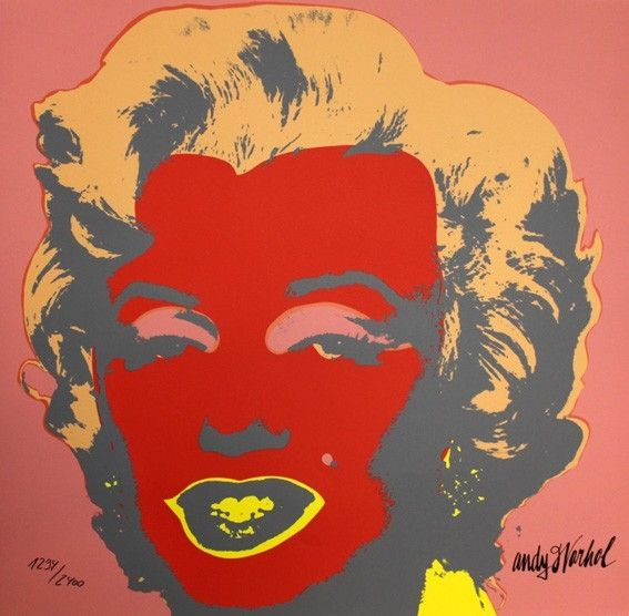 Serigrafia Warhol - Marilyn Monroe Red