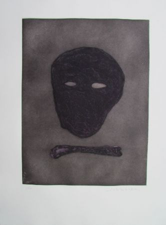 Incisione Scholder - Mask Of The Artist