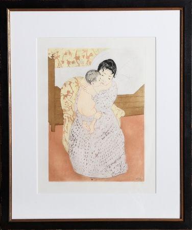 Incisione Cassatt - Maternal Caress