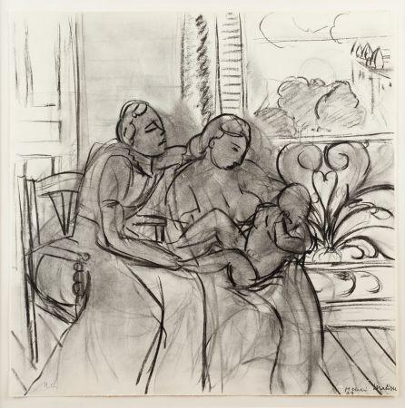 Litografia Matisse - Maternidad