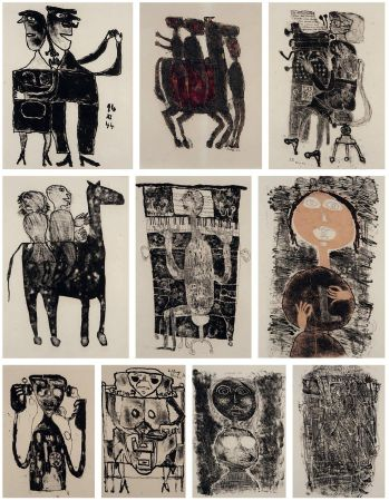 Litografia Dubuffet - MATIÈRE ET MÉMOIRE ou les lithographes à l'école.