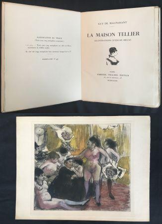 Libro Illustrato Degas - Maupassant: LA MAISON TELLIER. Illustrations d'Edgar Degas (1934).