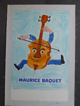 Manifesti Savignac - Maurice Baquet violonceliste