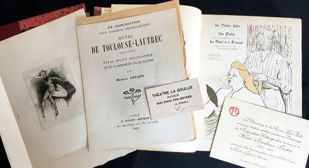 Libro Illustrato Toulouse-Lautrec - Maurice Joyant. HENRI DE TOULOUSE-LAUTREC, 1864-1901. [Vol. 1] Peintre - [Vol. 2] Dessins-Estampes-Affiches. (Exemplaire sur Japon avec suites et pièces ajoutées)