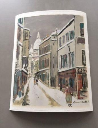 Non Tecnico Utrillo - Maurice Utrillo - A pochoir from Montmartre Village Inspire Series