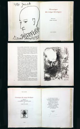Libro Illustrato Picasso - Max Jacob : CHRONIQUE DES TEMPS HÉROÏQUES. Gravures et lithographies originales (1956).