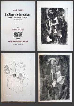 Libro Illustrato Picasso - Max Jacob. LE SIÈGE DE JÉRUSALEM. 3 eaux-fortes cubistes de Picasso (1914).