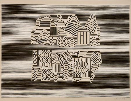Serigrafia Vasarely - Meandre