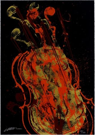 Serigrafia Arman - Melody for Strings 1