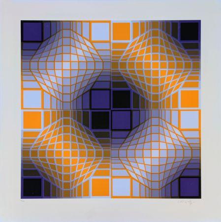 Serigrafia Vasarely - Mely