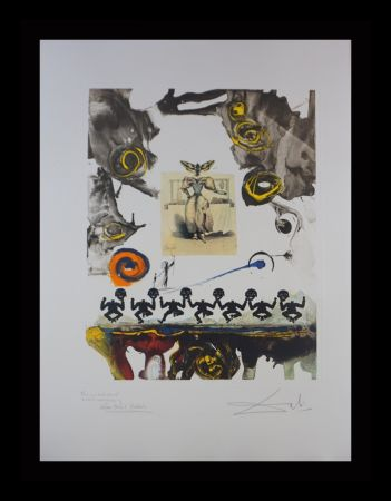 Incisione Dali - Memories of Surrealism Surrealist Gastronomy Trial Proof