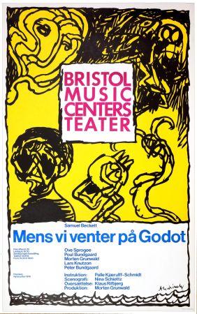 Manifesti Alechinsky - Mens vi venter på Godot, 1976