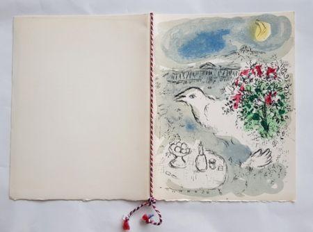Litografia Chagall - Menu du Diner du 5 Janvier 1978