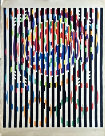 Litografia Agam - Message Of Peace