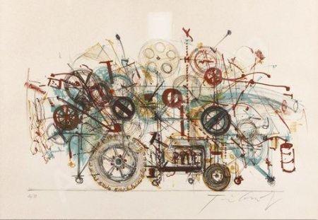Litografia Tinguely - Meta-machine