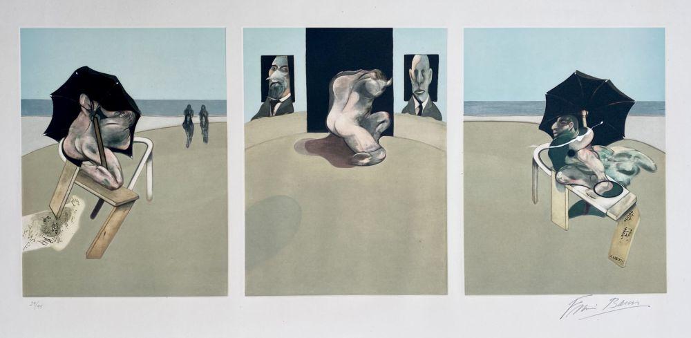 Acquatinta Bacon - Metropolitan triptych