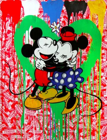 Multiplo Mr. Brainwash - Mickey & Minnie