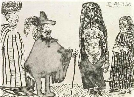 Acquaforte E Acquatinta Picasso - Mille et une nuits et Celestine: la jeune esclave