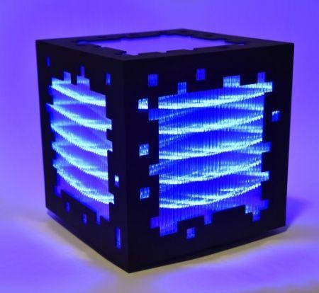 Incisione Su Legno Chevalier - Mini voxels light blue