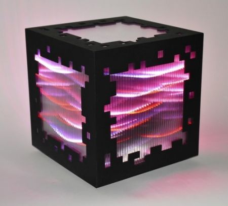 Incisione Su Legno Chevalier - Mini voxels light red