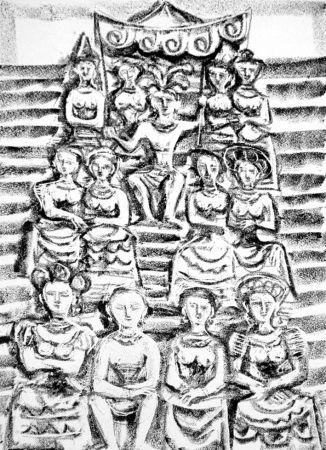 Litografia Campigli - Minosse