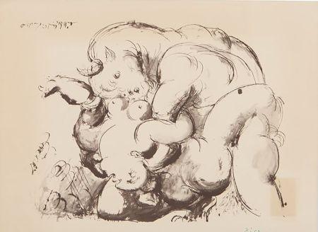 Litografia Picasso (After) - Minotaur