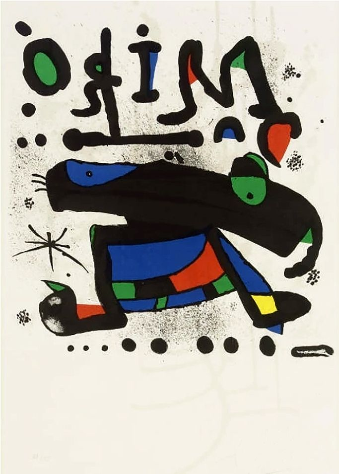 Manifesti Miró - MIRÓ. Exhibition poster at Seibu Museum of Art,Tokyo 1978. Affiche originale.