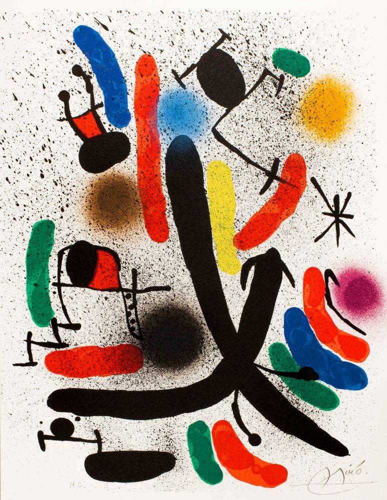 Litografia Miró -  Miró lithographe I (Maeght 855)