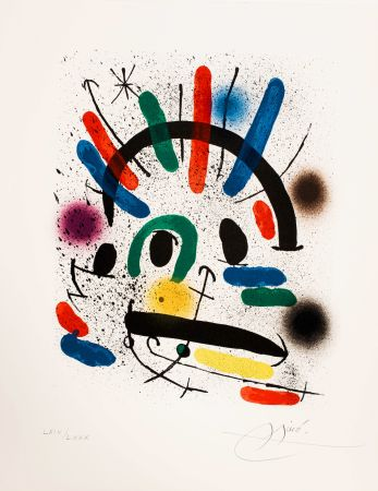 Non Tecnico Miró - Miró lithographe I (Maeght 858)