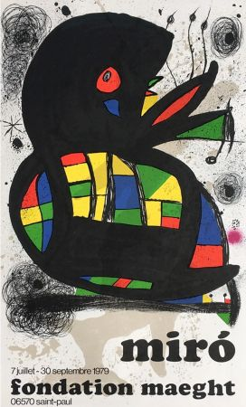 Manifesti Miró - MIRO À LA FONDATION MAEGHT. Exposition de l'été 1979.