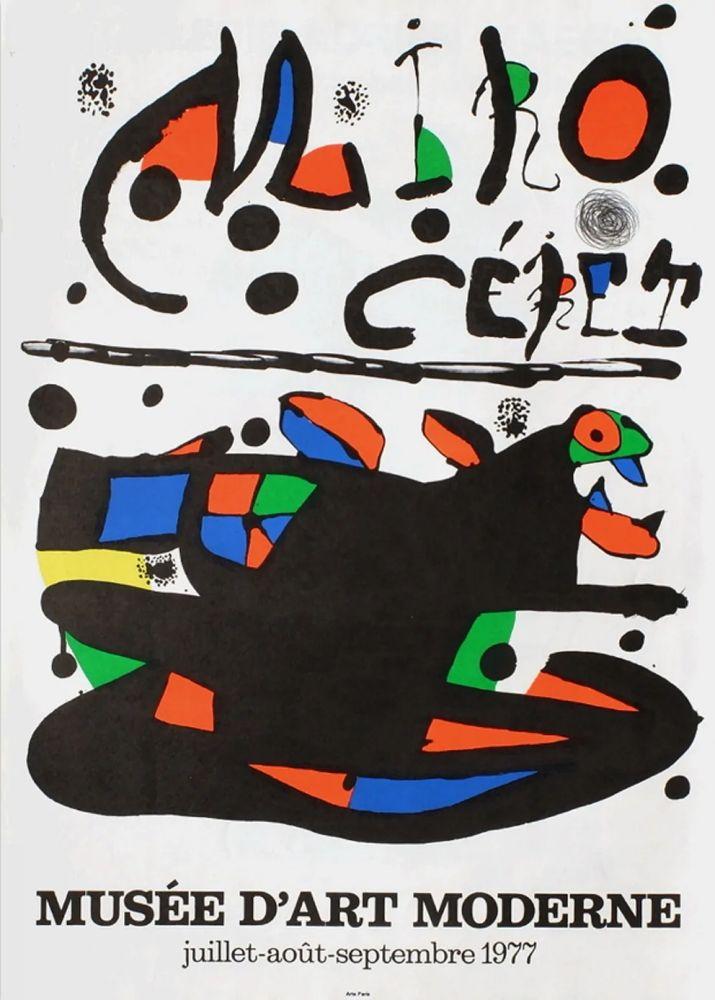 Manifesti Miró - MIRO - CÉRET. Musée d'Art Moderne 1977. Affiche originale.