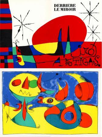 Litografia Miró - MIRO ARTIGAS: Terres de grand feu. DERRIÈRE LE MIROIR N°87-88-89. 1956.